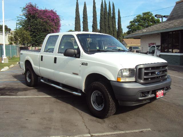 2004 FORD F250 XL white 2004 ford f250 xl 60 turbo diesel power windows power door locks tilt w