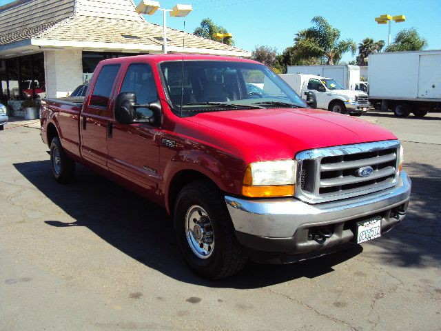 2001 FORD F250 XLT CREW CAB LONG BED 2WD red 2001 ford 250 crew cab xlt long bed 73 turbo diesel