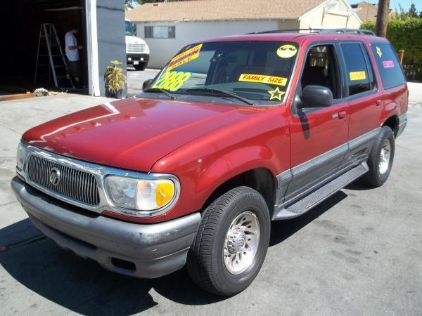1999 MERCURY MOUNTAINEER red this is a  red 1999 mercury mountaineer 4 door wagon auto v6 40l s