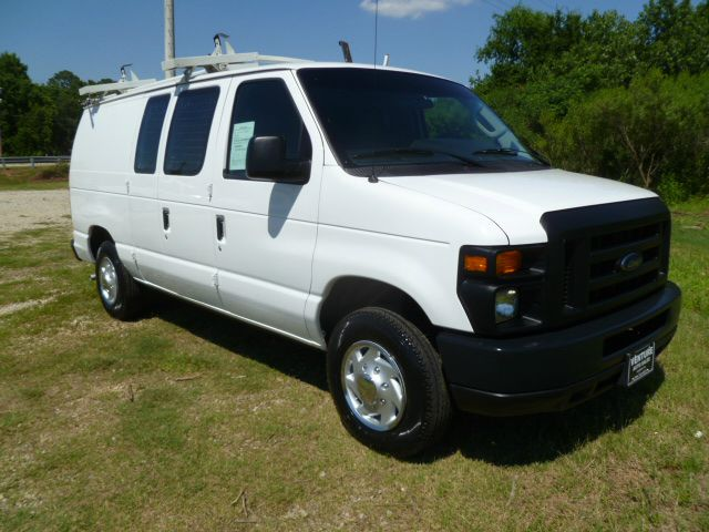 2009 FORD E150 CARGO VAN white quiet flex rubber shelfs on both sides quiet flex bulkhead no ra