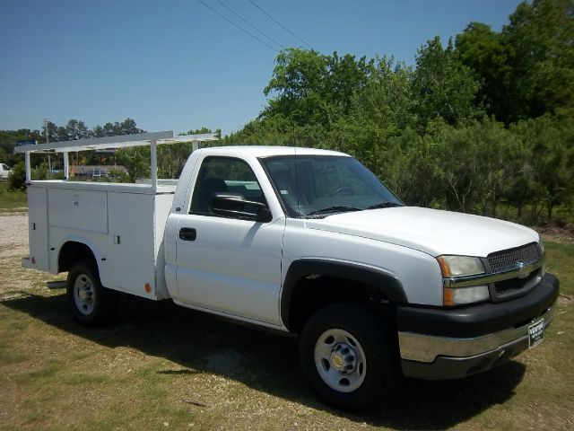 2004 CHEVROLET SILVERADO 2500 SERVICE 2WD white extra wide knapheide service body compartments tha