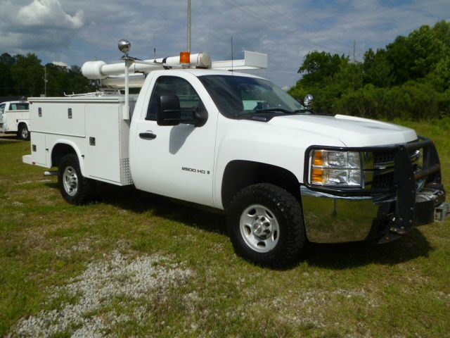 2009 CHEVROLET SILVERADO 2500 4X4 SERVICE TRUCK 4WD white 4x4 knapheide service body with flip top