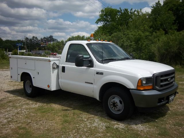 2001 FORD F350 XL DIESEL SERVICE TRUCK 2WD DRW white knapheide service body with dual rear wheels