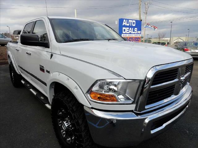 2012 RAM RAM PICKUP CREW CAB OUTDOORSMAN white come and check it out today lowest prices in the s
