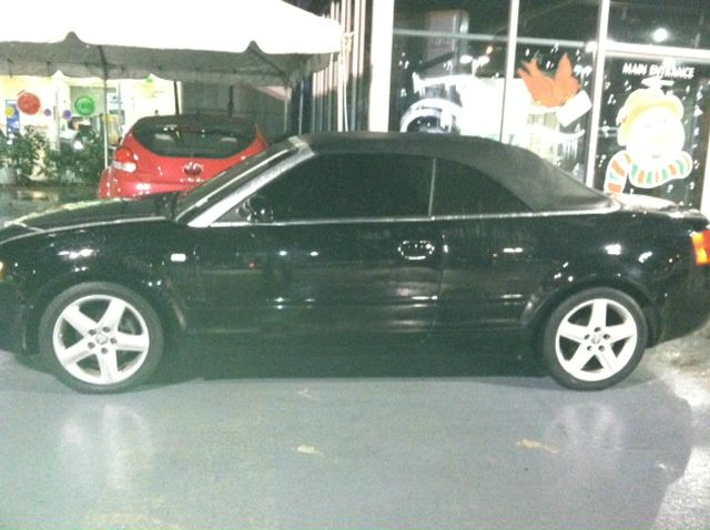 2004 AUDI A4 18T CABRIOLET black this 2004 audi a4 18 turbo convertible black top black over b