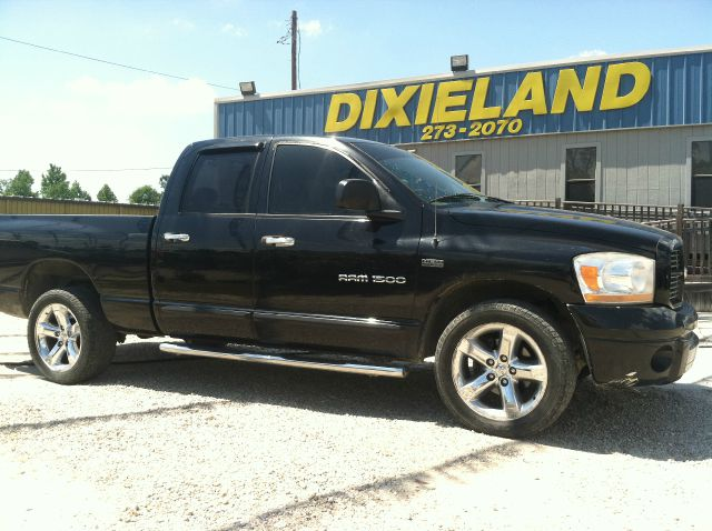 2006 DODGE RAM 1500 SLT QUAD CAB 2WD black 2006 dodge ram 1500 w hemi crew cab fully loaded all